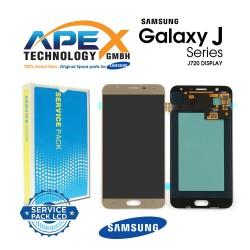 Samsung SM-J720 Galaxy J7 Duo LCD Display / Screen + Touch - Gold