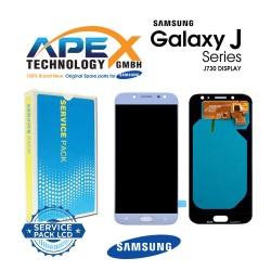 Samsung Galaxy J7 2017 (SM-J730F) Lcd Display / Screen + Touch Blue Silver GH97-20736B
