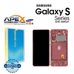 Samsung SM-G781F Galaxy S20 FE 5G LCD Display / Screen + Touch - Cloud Red GH82-24214E OR GH82-24215E