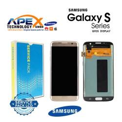 Samsung Galaxy S7 Edge (SM-G935F 2016 (No Frame) Lcd Display / Screen + Touch Gold GH96-09785A