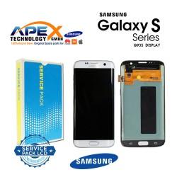 Samsung Galaxy S7 Edge (SM-G935F 2016 (No Frame) Lcd Display / Screen + Touch White GH96-09787A