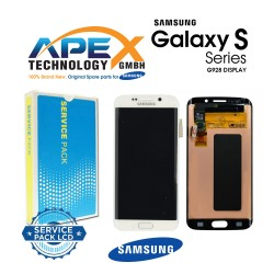 Samsung Galaxy S6 Edge+ (SM-G928F) Lcd Display / Screen + Touch White GH97-17819C