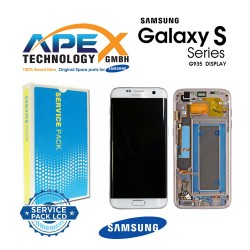Samsung Galaxy S7 Edge (SM-G935F) Lcd Display / Screen + Touch White GH97-18533D