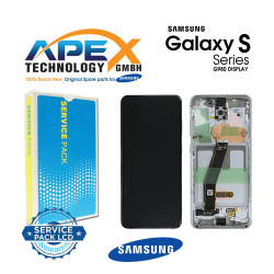 Samsung SM-G981 Galaxy S20 5G LCD Display / Screen + Touch - White