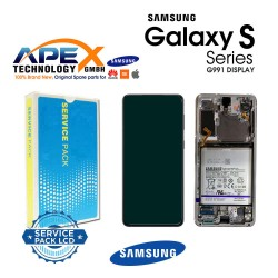 Samsung SM-G991 Galaxy S21 5G Lcd Display / Screen + Touch Phantom Silver  + Btry GH82-24718A OR GH82-24716A OR GH82-24545A