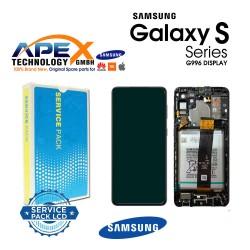 Samsung SM-G996 Galaxy S21+ 5G Lcd Display / Screen + Touch Phantom Black + Btry GH82-24744A OR GH82-24555A OR GH82-24554A