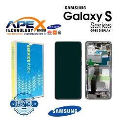 Samsung SM-G998 Galaxy S21 Ultra 5G ( No Camera ) Lcd Display / Screen + Touch Phantom Silver GH82-26035B OR GH82-26036B