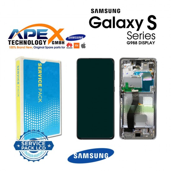 Samsung SM-G998 Galaxy S21 Ultra 5G ( With Camera ) Lcd Display / Screen + Touch Phantom Black GH82-24590A OR GH82-24989A