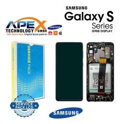 Samsung SM-G998 Galaxy S21 Ultra 5G Lcd Display / Screen + Touch Phantom Black + Btry GH82-24591A OR GH82-24925A