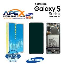 Samsung SM-G998 Galaxy S21 Ultra 5G Lcd Display / Screen + Touch Phantom Silver + Btry GH82-24591B OR GH82-24925B