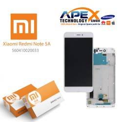 Xiaomi Redmi Note 5A Lcd Display / Screen + Touch White (Service Pack) 560410006033