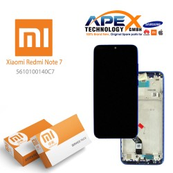 Xiaomi Redmi Note 7 Lcd Display / Screen + Touch Blue (Service Pack) 5610100140C7