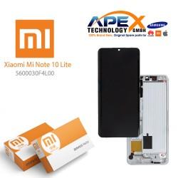 Xiaomi Mi Note 10 Lite Lcd Display / Screen + Touch White 5600030F4L00