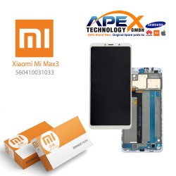 Xiaomi Mi Max3 LCD Display / Screen + Touch White