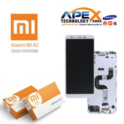 Xiaomi Mi A2 (Mi 6X) Display module LCD / Screen + Touch White (Service Pack) 5604100430B6