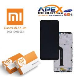 Xiaomi Mi A2 Lite, Redmi 6 Pro Lcd Display / Screen + Touch (Service Pack) Black 560610035033