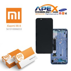 Xiaomi Mi 8 Lcd Display / Screen + Touch Blue (Service Pack) 561010006033