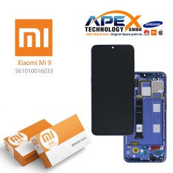 Xiaomi Mi 9 LCD Display / Screen + Touch Blue