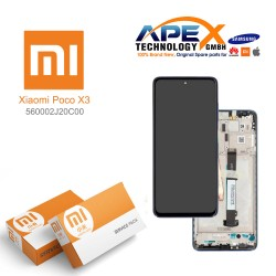 Xiaomi Poco X3 Lcd Display / Screen + Touch Cobalt Blue 560002J20C00